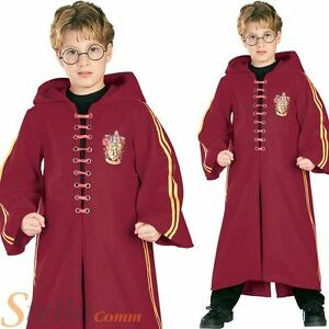 Boys Deluxe Harry Potter Quidditch Costume Robe Wizard Halloween Fancy Dress