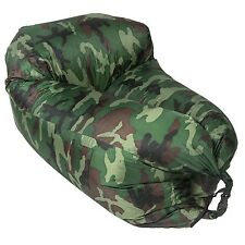 Lazy & Chill Camo Pod. Inflatable Chair No Pump Required. Ideal For Festivals