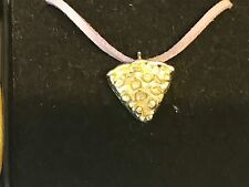 """Pizza Slice TG161 English Pewter On 18"""" Purple Cord Necklace"""