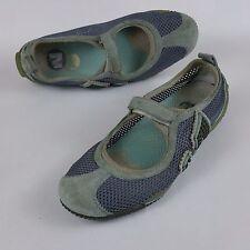 Merrell Relay Tour Blue Womens MaryJane Walking Sport Sandals Leather Gray Sz 7