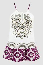 NWT $234 Italian Designer Chic Embroidery Cotton Top Size S 8 10 SISTE'S