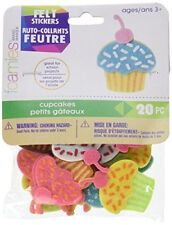 Darice FLT-2781 Darice, 20 Piece, Cupcake Felties Felt Stickers. Hobby & crafts