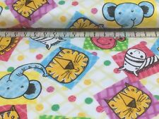 CUTE  ANIMALS 5 FOR 4   FLANNEL//BRUSHED COTTON      ONLY  2.69 FAT QUARTER
