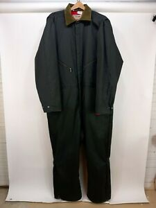 Vintage Walls Blizzard Pruf Mens Insulated Green Coveralls 3XL Regular