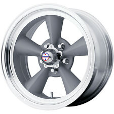 4 - 15x7 Gray American Racing Vintage Torq Thrust Wheel 5x5.5 (5x139.7) +6