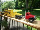 Smith Miller B Mack Lowboy Construction Equipment Hauler W/Doepke Cat D6 Dozer