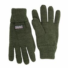 SANREMO Unisex Kids Knitted Fleece Lined Warm Winter Gloves