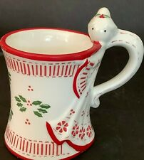 Temptations By Tara 12 oz Coffee Mug Tea Cup Christmas Peppermint Angel 12 oz