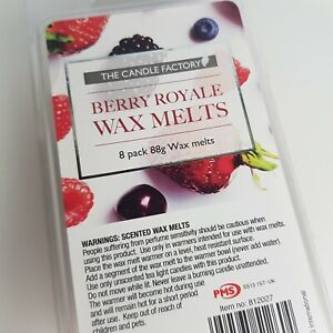Berry Royale Scented Wax Melts Pack of 8 White Brand new