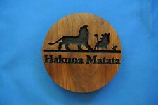 Lion King Hakuna Matata Walnut Wood Refrigerator Magnet American Made/ Homemade