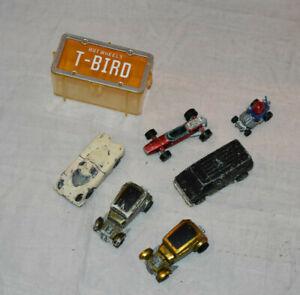 6) Vintage Hot Wheels Redline Diecast Lot T Bird Case Mattel As Is