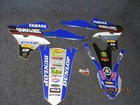 Yamaha YZF250 YZF450 2014-2017 Star Carreras Eu Equipo Conjunto Gráfico SG086