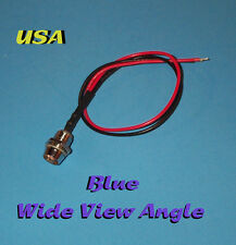 LED - 5mm PRE WIRED 12V WITH CHROME BEZEL ~ WIDE BLUE ~