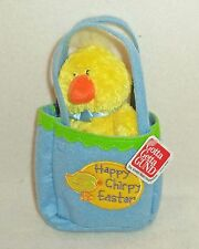 """Sunshine Pals """"Happy Chirpy Easter"""" Chick in a Gift Bag from Gund (36149) NEW!"""