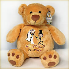 "Personalised Engagement Teddy Bear 16"" /Engagement Present/Valentine Gift"