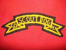 Vietnam War Hand Made Scroll Patch US 50th Infantry SCOUT DOG PLATOON