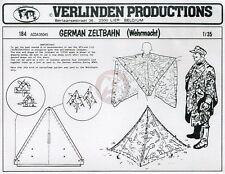 Verlinden 1/35 Wehrmacht Zeltbahn Splinter Camouflage Poncho Triangular Tent 184
