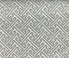 VALDESE WEAVERS GEOMETRIC UPHOLSTERY FABRIC THATCHER IN PEWTER BY THE YARD