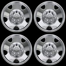 "4 CHROME 05-07 Ford F250 F350 2WD 17"" Wheel Skins 8 Lug Full Rim Covers Hub Caps"