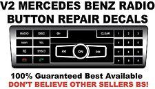 V2 Black Radio Stereo Button Repair Decals Stickers Repair MERCEDES BENZ