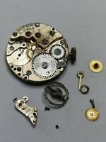 Record 15 Jewel Watch Movement With Loose Spare Parts For Repair Or Spares (H22)