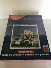 Linus & Snoopy Napping  P&J Coats Latch Hook Kit Brand New!  Mint Condition!