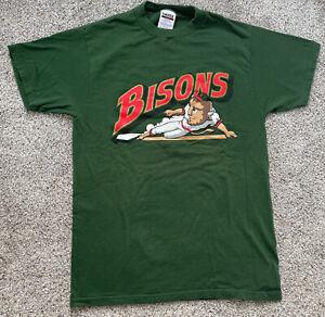 Vintage 90's Men's Medium Buffalo Bisons Minor League Baseball MILB T-Shirt