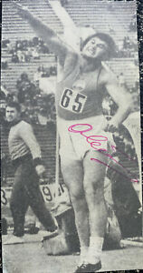 Signed 1956 Olympic CCCP Vartan Ovsepyan USSR Russia Athletics Autograph 1950s