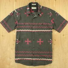 ORVIS short sleeve shirt LARGE fadedd southwest indian navajo aztec print