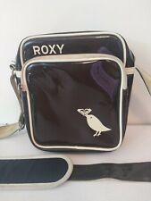 Roxy Estilo Vintage Bolso De Mensajero. Vinilo. Uni. secundaria, en la Universidad, informal, Funky
