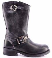 Scarpe Stivali Donna HARLEY DAVIDSON Workers Boot 978 Vintage Leather Black New