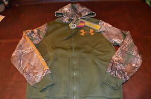 NWT MSRP $99 Mens Under Armour Infrared Cold Gear Realtree Camo Hoodie Jacket