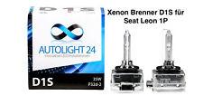 2 x Xenon Brenner D1S Seat Leon 1P Lampen Birnen E-Zulassung