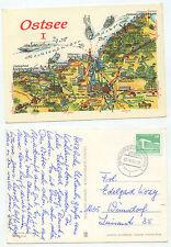 23186-Baltico-CARTINA-cartolina, andate raffreddamento Born 27.8.1984