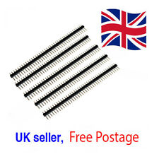 5x 40 Pin Male Single Row Pin Header Strips Genuine UK Seller