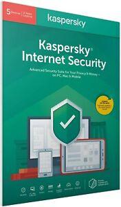 KASPERSKY INTERNET SECURITY 2021 MULTI-DEVICE 5 DEVICES / 2 YEAR | EU UK RETAIL