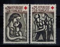 (a3)  timbres de France n° 1323/1324 neufs** année 1961