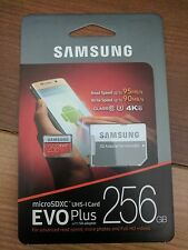 SAMSUNG Micro SD XC USH I Card EVO PLUS 256 GB MEMORY CARD SDD CLASS 10