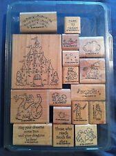 Set 17 Stampin Up DREAMS DRAGONS Unicorn Princess Castle Fairy Tale Prince 1996