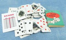 Dolls House Miniatures:  Set of Playing Cards  : in 12th scale