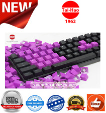 Tai-Hao TPR Rubber Gaming Backlit Double Shot 22 Keys Neon Purple KEY0095