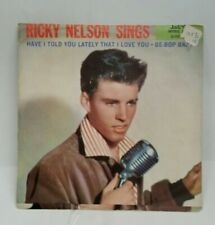 Ricky Nelson Imperial 5463 BE-BOP BABY (GREAT ROCKABILLY 45/PS)  PLAYS VG++
