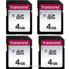 4 Transcend 4GB Class 10 SDHC Memory Card for SLR, Coolpix,  ELPH Cameras