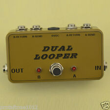 Dual Effects Looper Pedal -Guitar Double True Bypass Looper for pedal boar ABBOX