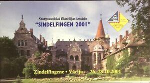 Latvia 2001 Sindelfingen Booklet Unused