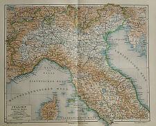 1890 ANTICA.STAMPA GEO-TOPOGRAFICA=NORD ITALIA=Fisica..