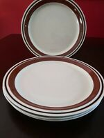 "Set of4 Yamaka Contemporary Chateau Stoneware SIENNA BROWN 10 5/8"" Dinner Plates"