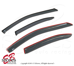 Light Tinted Out-Channel Vent Visor Deflector 4pcs For 2009-2013 Toyota Matrix