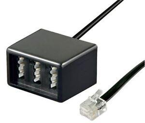 Goobay TAE adapter 3x TAE N/F/N female to RJ11/RJ14 male (6P4C) black 0.2 m 0.2m