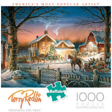 Buffalo Games Puzzle Trimming the Tree Terry Redlin 1000 Pieces #11587